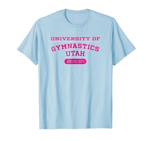 798cdb71ab28b Amazon.com: University of Gymnastics UTAH Athletic Dept. T-shirt ...