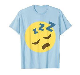 Amazon com: Sleepy Zzz Emoji Face T-Shirt: Clothing