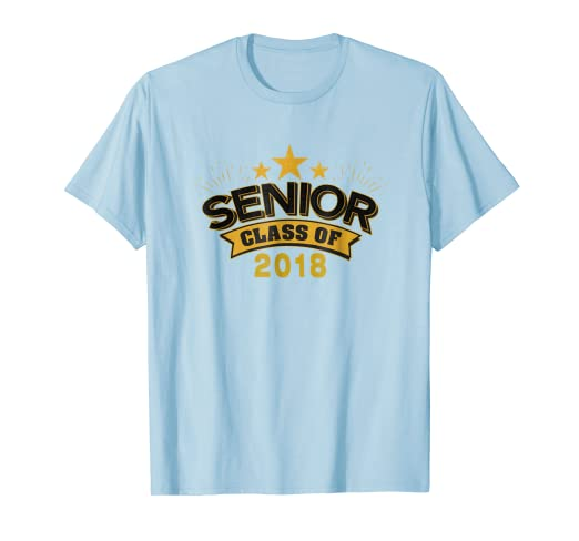 77208130 Amazon.com: 2018 Graduating Class Senior T-Shirt, Black & Gold: Clothing
