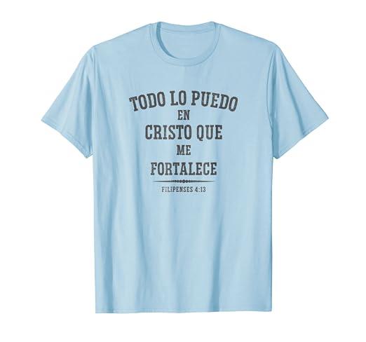 Camisa Cristiana en Espanol con mensaje de la Biblia