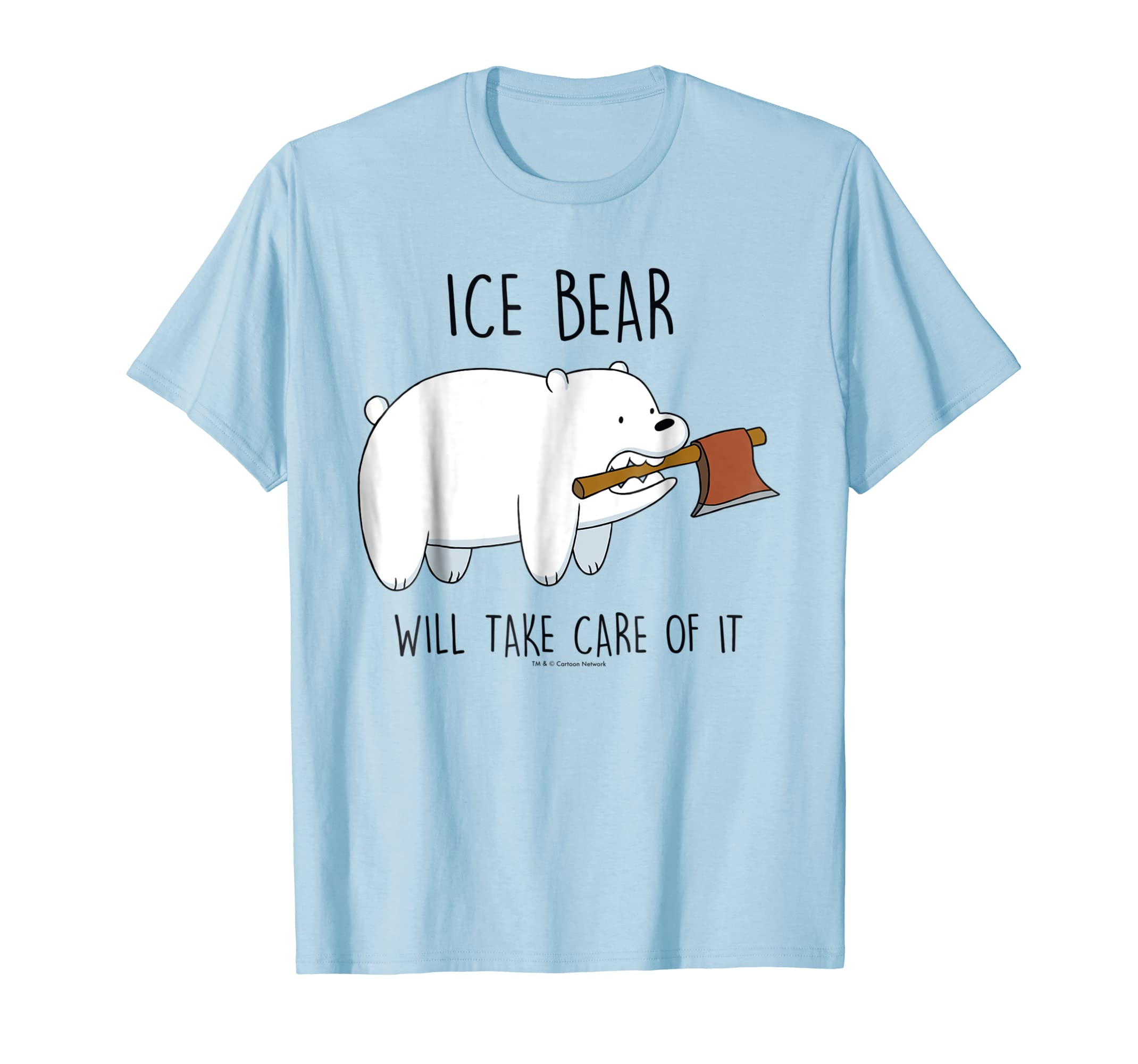 Bare Bears Ice Bear Take Care Of It Axe Graphic T Shirt-azvn