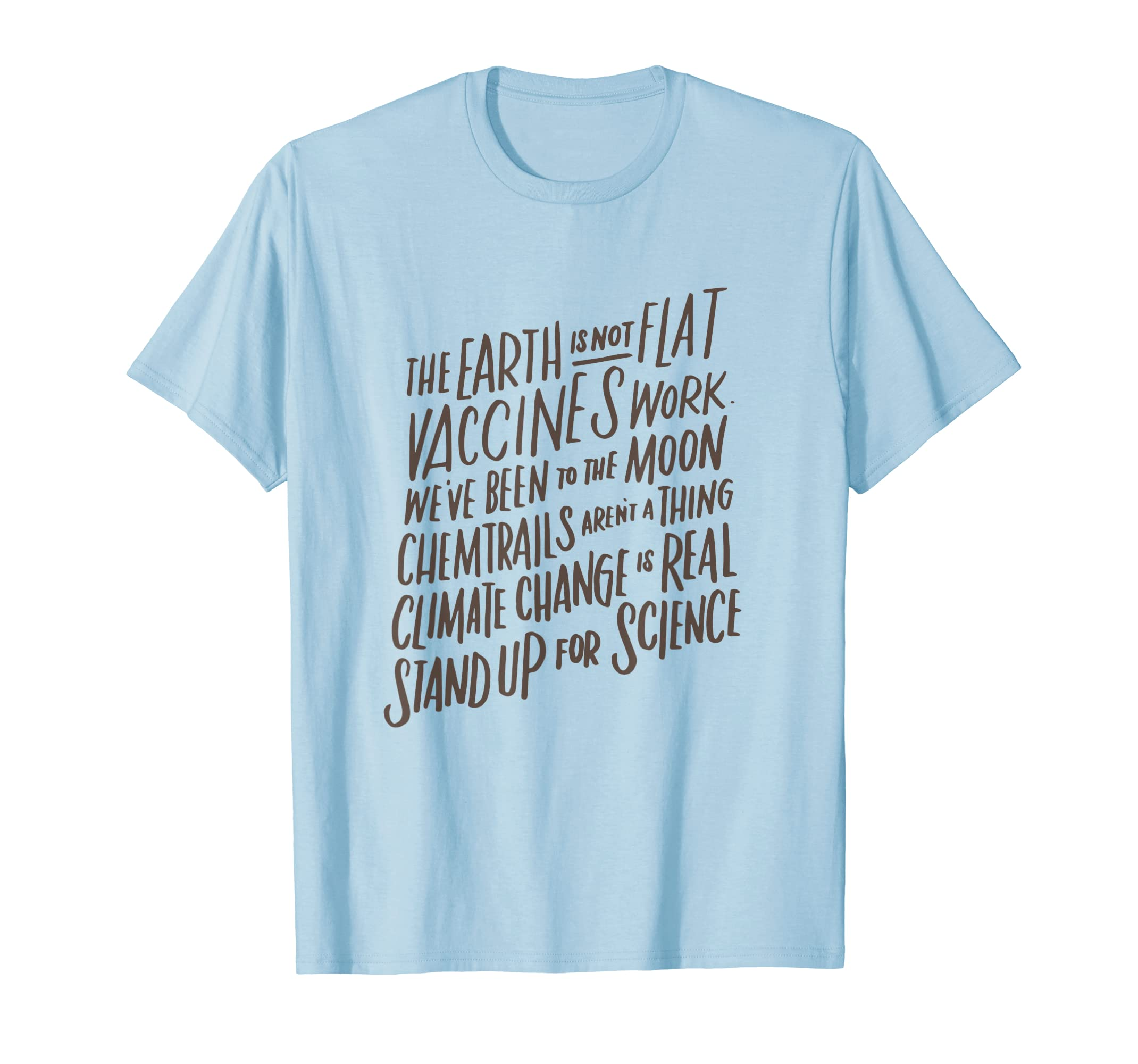 Earth Is Not Flat T-Shirt  Stand Up For Science Teacher Tee-Awarplus
