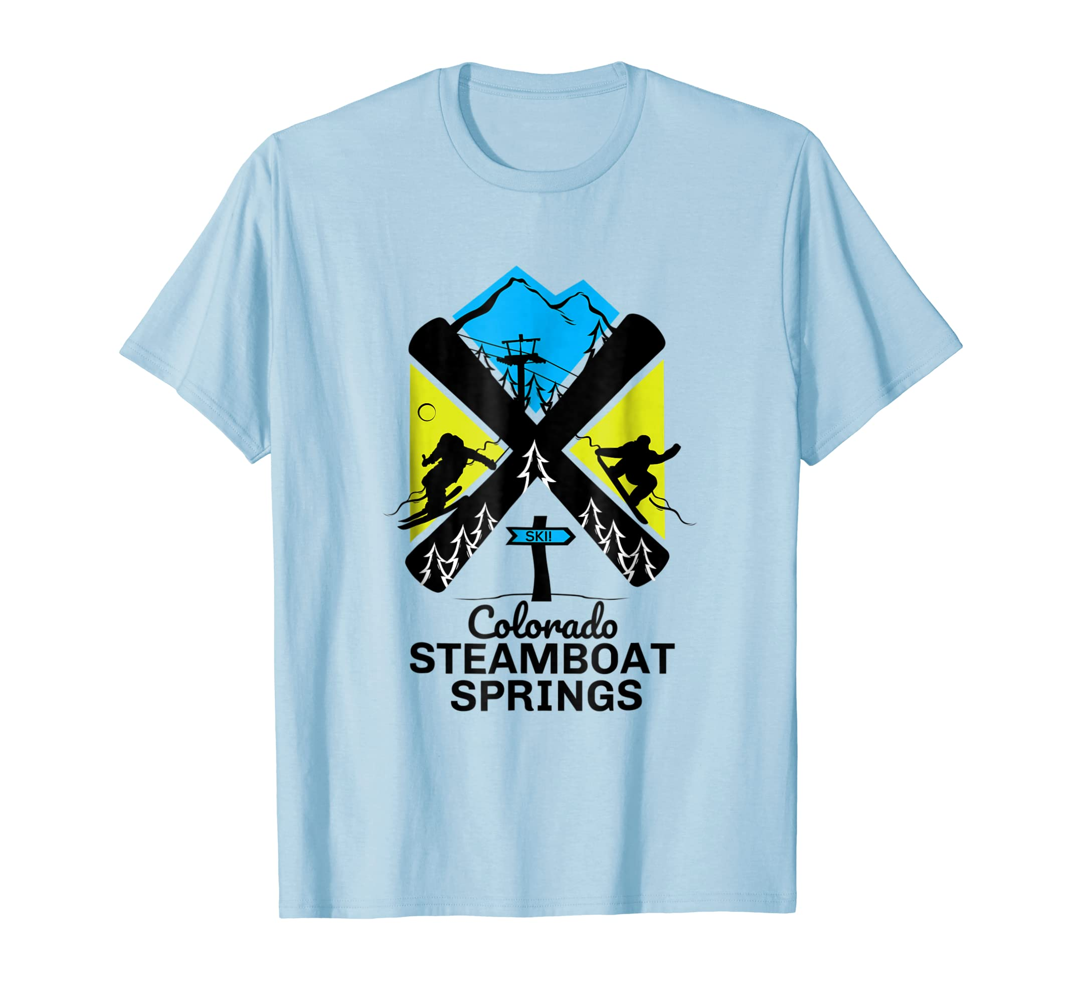 cd609b69ff Amazon.com  Steamboat Springs ski t shirt skiing   snowboard accessories   Clothing