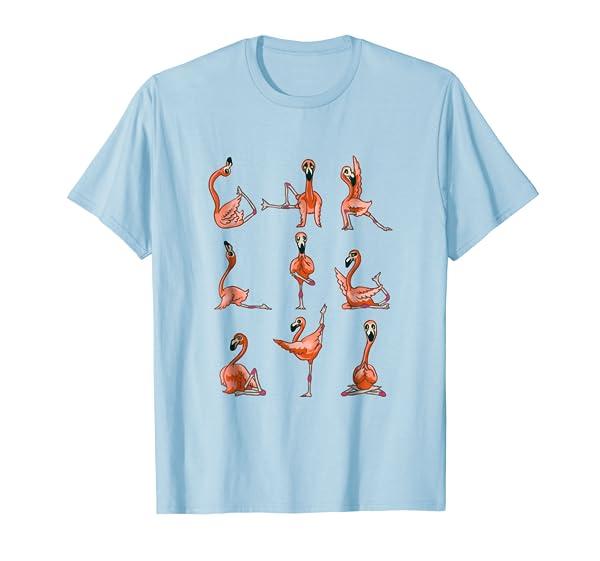 Funny Flamingo Yoga Tshirt