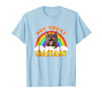 024c537f8 Image Unavailable. Image not available for. Color: Not Today Satan T-Shirt  ...