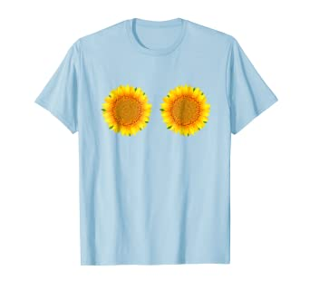 d871222f84 Image Unavailable. Image not available for. Color: Sunflower Boobs Style Women's  T-shirt