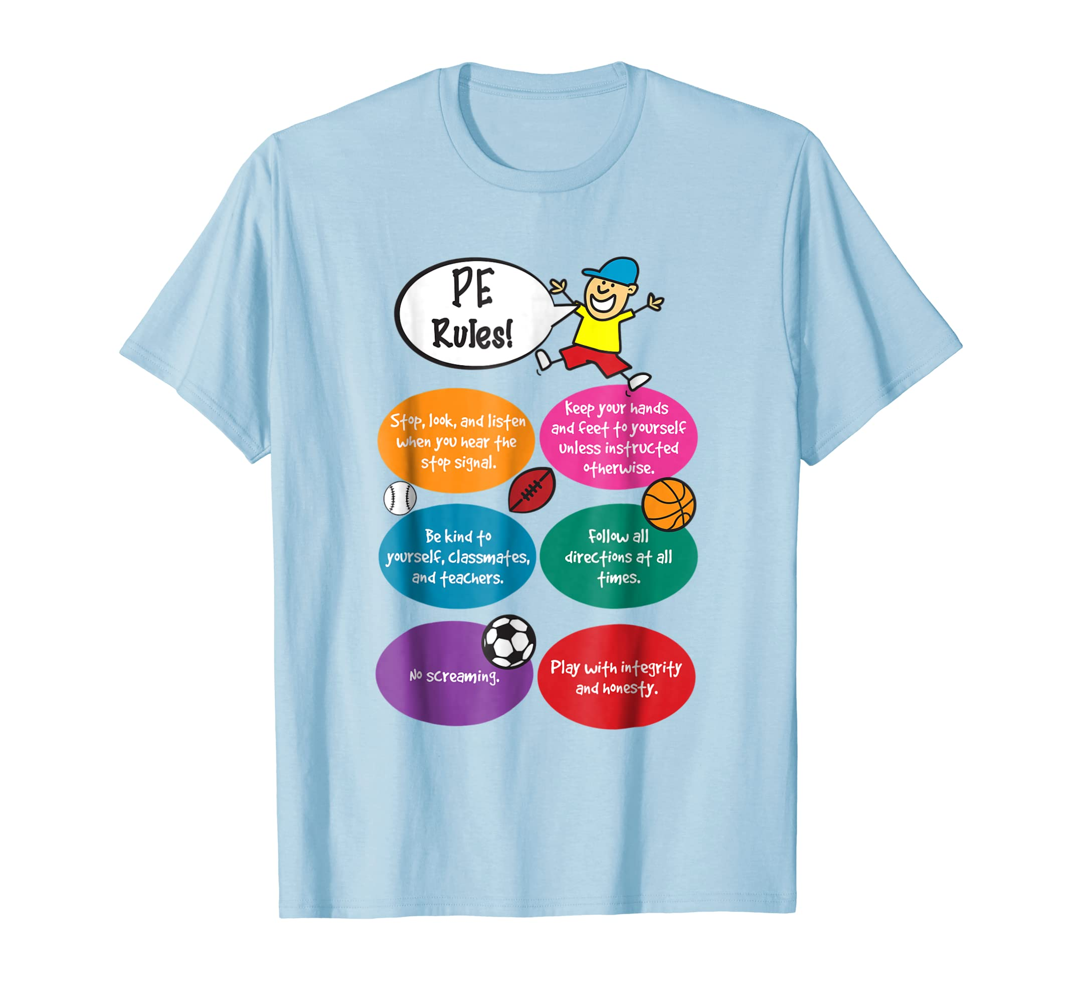 P.E. Rules Physical Education Teacher PE T-Shirt-mt