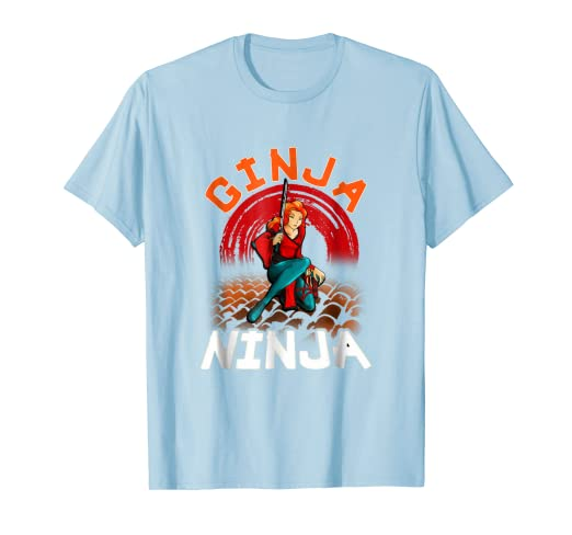Amazon.com: Ginja Ninja Shirt Natural Redhead Red Hair Ninja ...