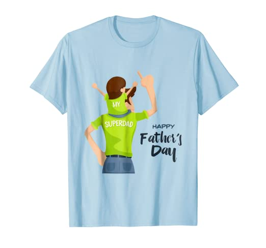 97c502f2 Image Unavailable. Image not available for. Color: happy father's day my  super dad tshirt