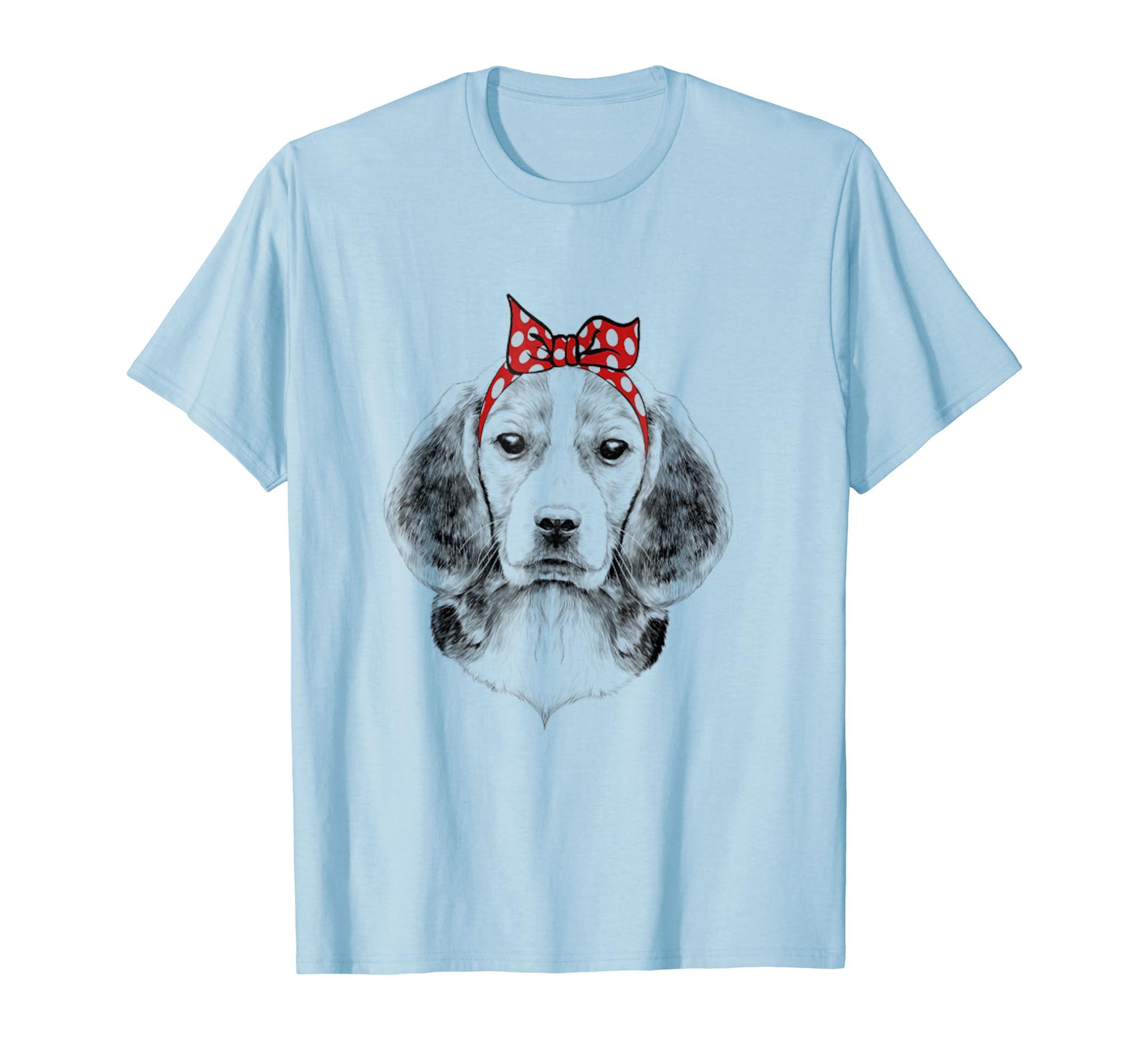 Beagle Dog Face Graphic Art T-Shirt-AZP