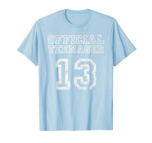 Amazon Com 13th Birthday Official Teenager Shirt 13 Years Old Girl