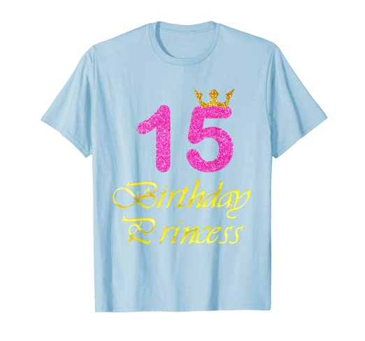 Amazon Gift For 15 Years Old Shirt 15th Golden Birthday