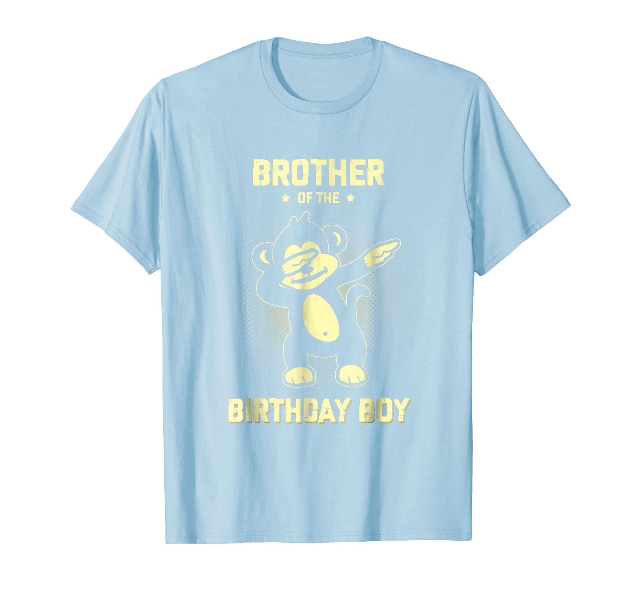 Amazon Brother Of The Monkey Birthday Boy Shirt Funny Dab Dance Clothing