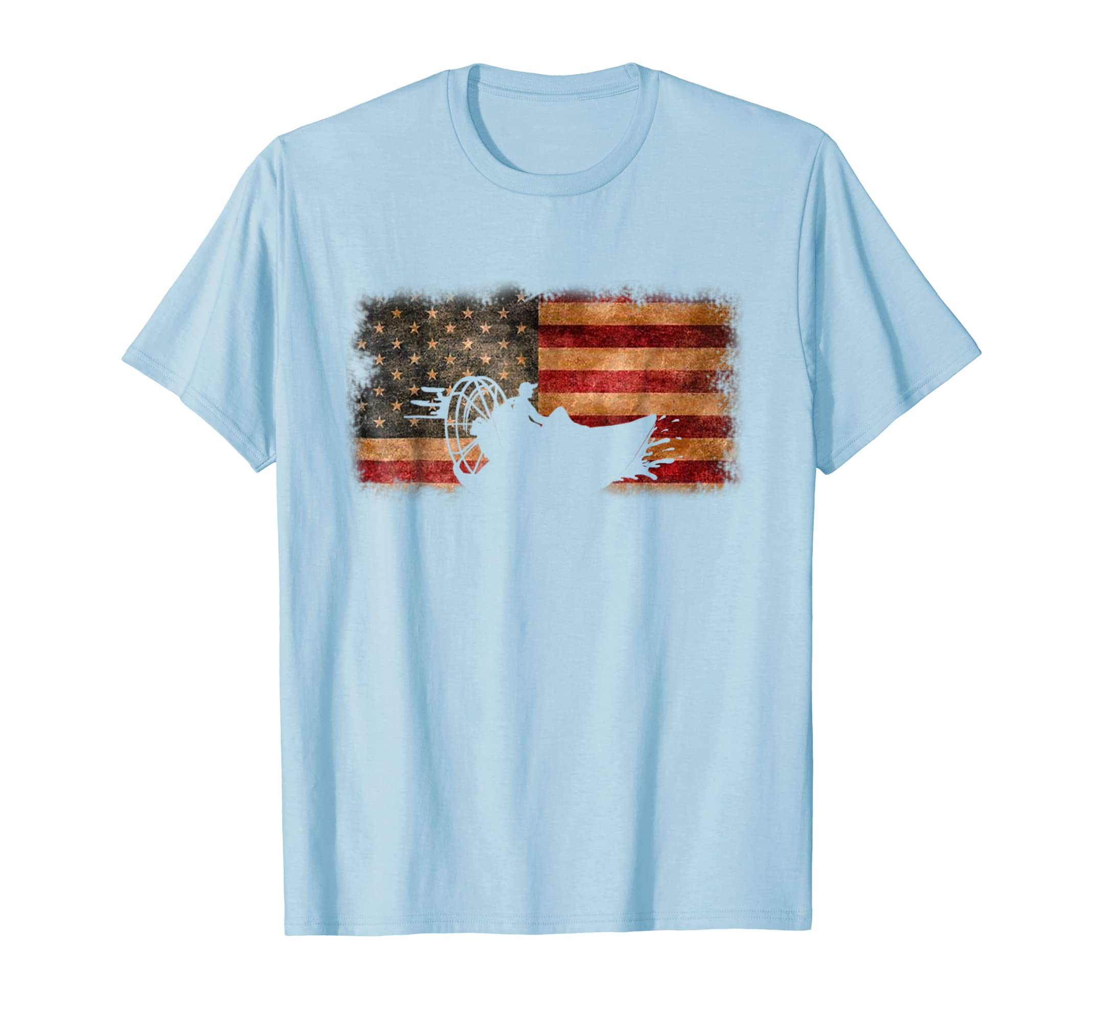 American Flag Airboat Shirt Racing America Gift Idea-azvn