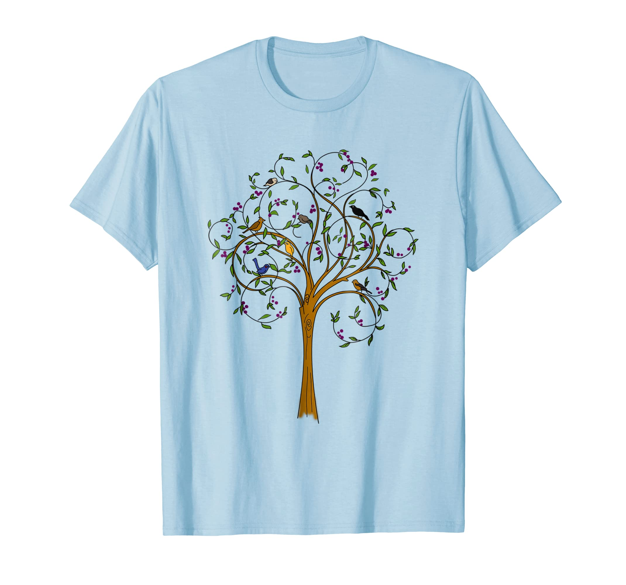 Bird On The Tree T shirt Nature Wild Lovers Gift Tee-azvn