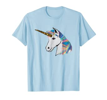 Image Unavailable. Image not available for. Color  holographic rainbow  unicorn top t-shirt top tee ... 1852e2bd9eda