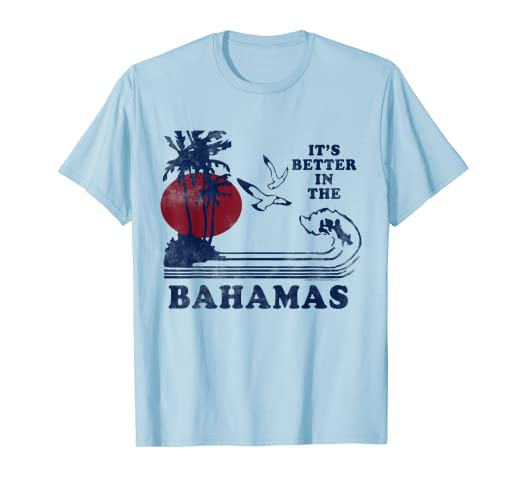 5a93ca2a9 Amazon.com: It's Better in the Bahamas Vintage 80s 70s T-Shirt: Clothing