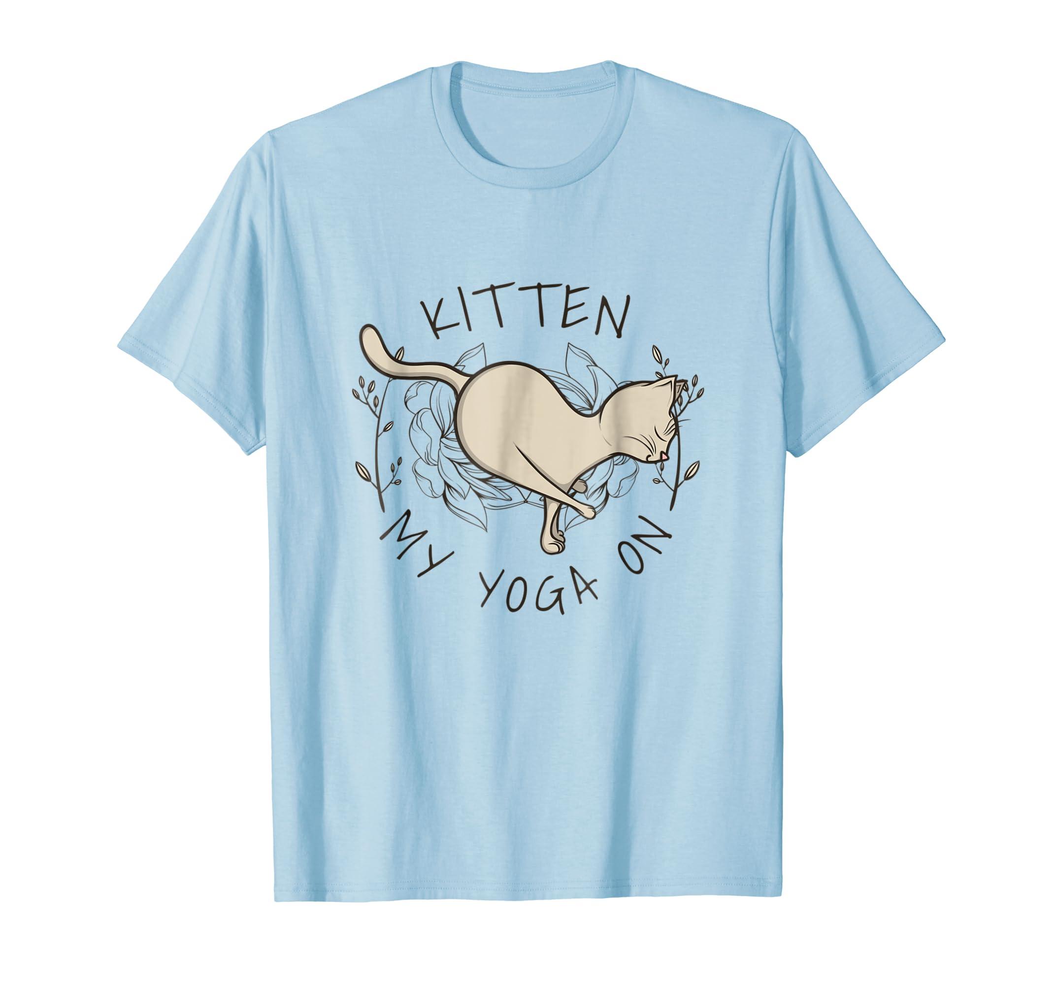 Amazon.com: Kitten My Yoga On Arm Balance Handstand Pose T ...