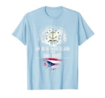 e7d69e873 Amazon.com: Rhode Island Home Ohio Roots State Tree Flag Shirt Love ...