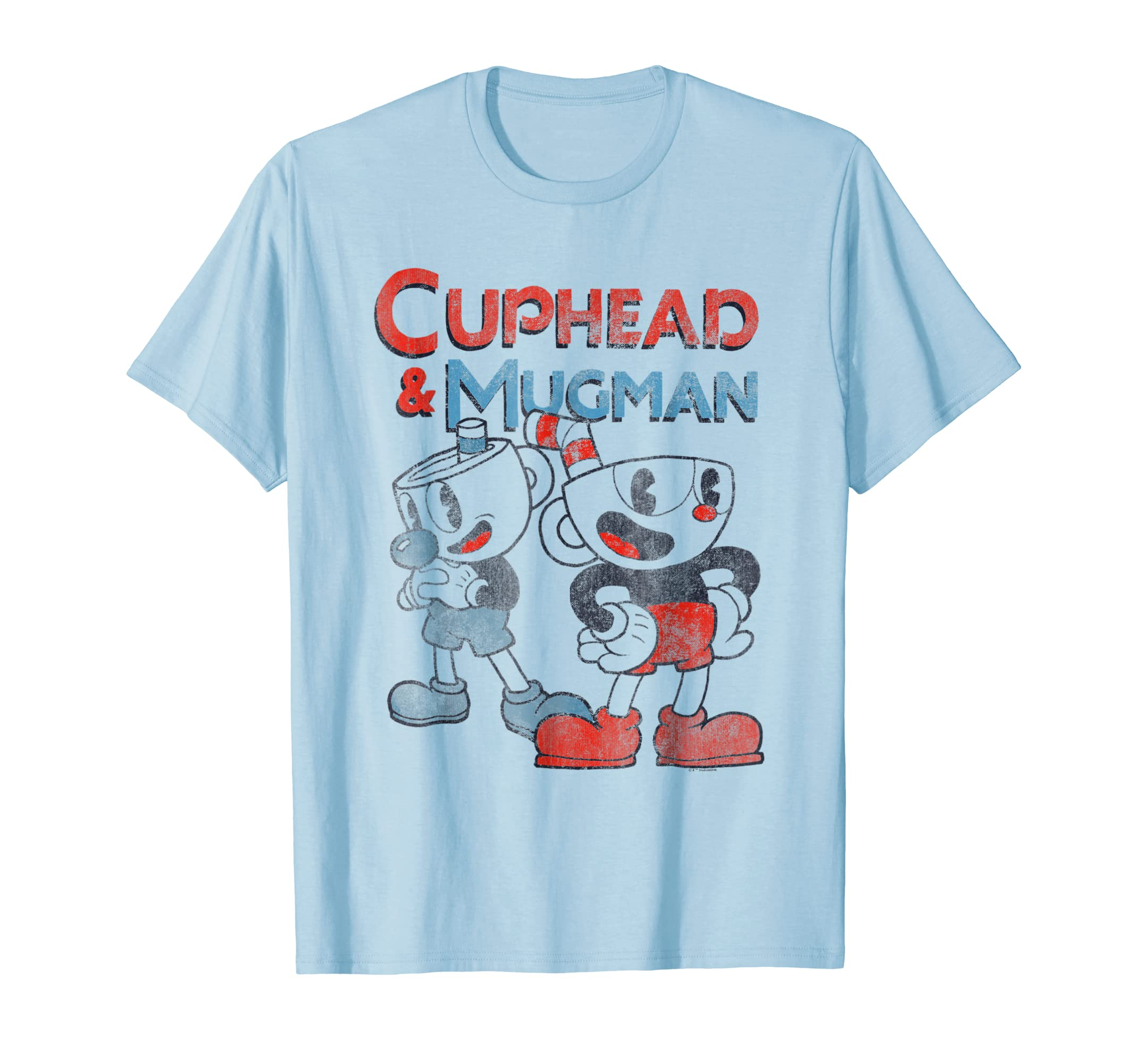 And Mugman Dynamic Duo Vintage Graphic T Shirt-azvn