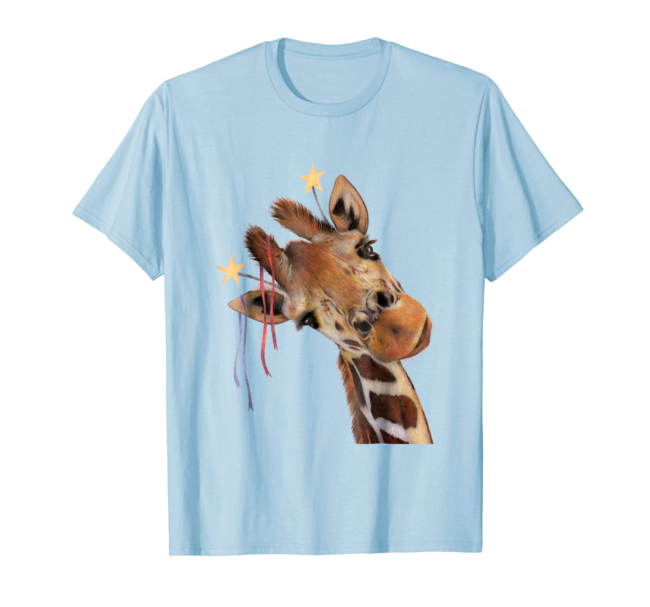 'Good Time Giraffe' Party Animal Drawing T Shirt Clothing-Teesml