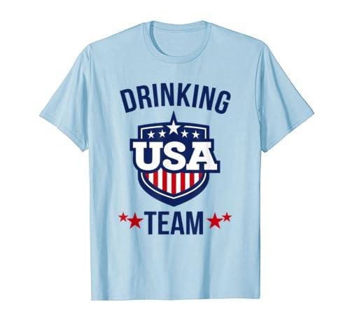 c044fc33c Amazon.com: USA Drinking Team T-shirt: Clothing
