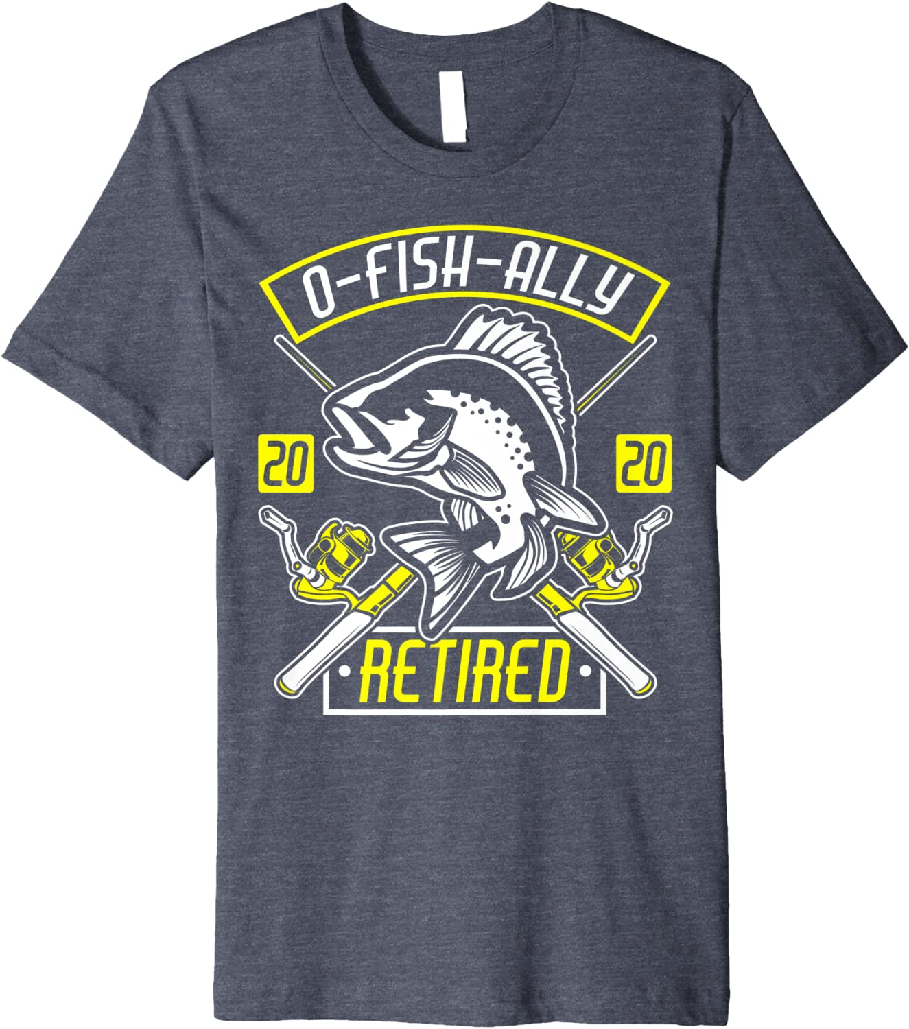 old man hobby Officially Retired retirement tee Bass fishing Love fishing shirt O-fish-ally Retired T-Shirt fishing pole relaxing