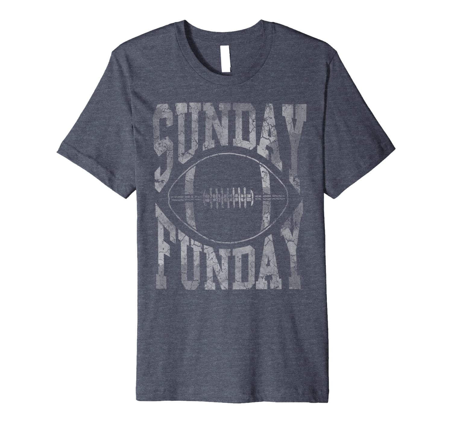 Vintage Sunday Funday Football Mens Womens Kids Premium T-Shirt-TH