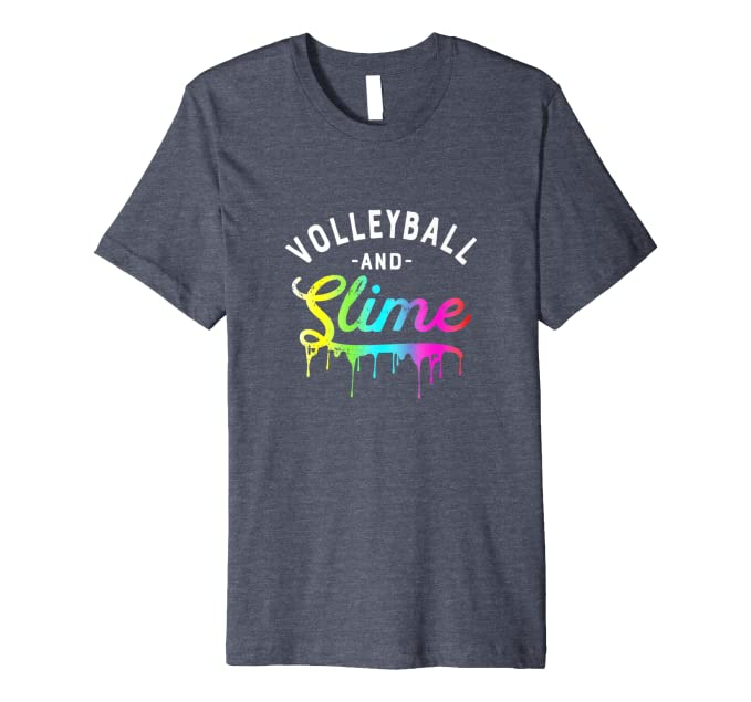 Amazon com: Slime T-shirts for Girls Volleyball Shirt Slime Lover