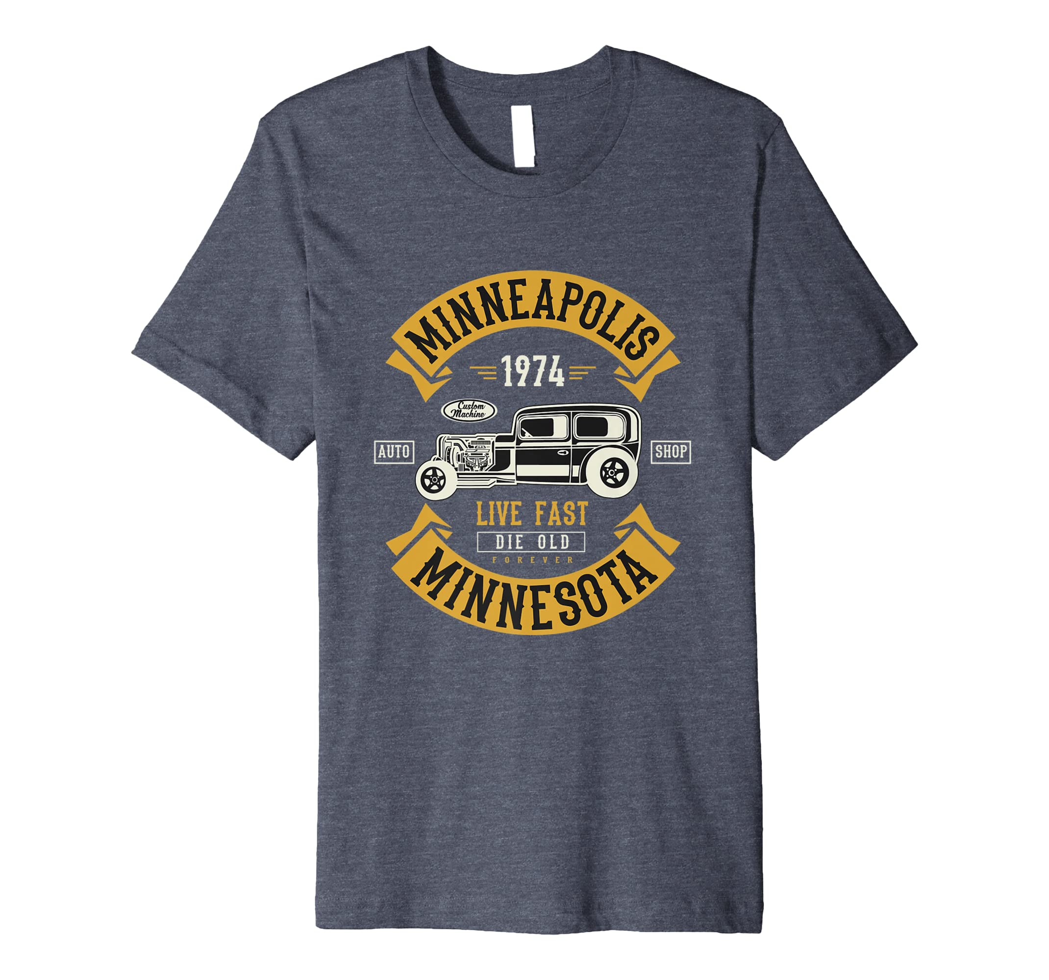 Vintage Hot Rod Minneapolis MN Muscle Car Väter Tag Shirt: Amazon.de ...