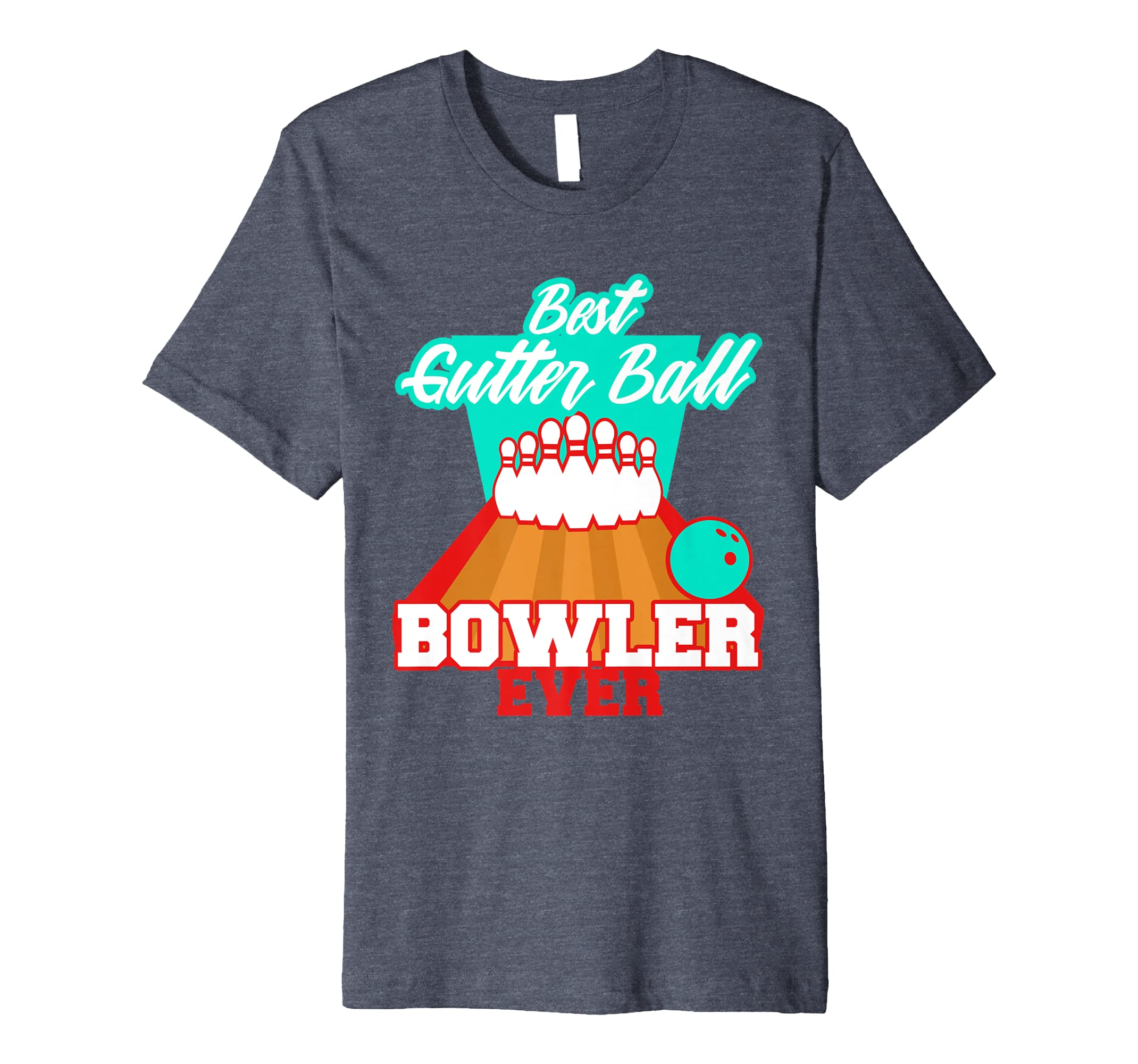 bdb08e1b87 Amazon.com: Bowling Funny League T-shirt Bowler Gutter Ball Gag Gift:  Clothing