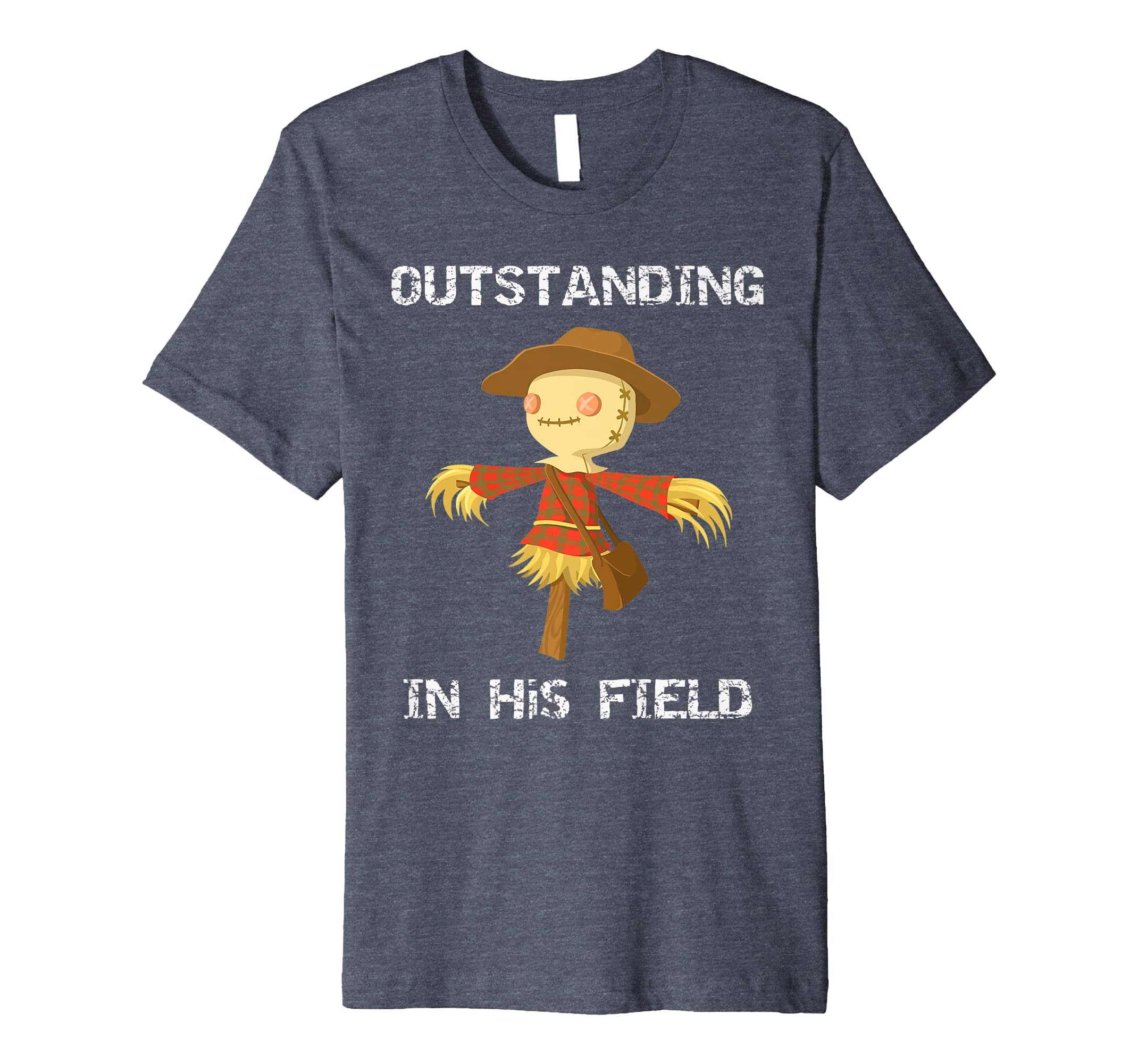 18297bdc2cb8f Amazon.com: Premium Outstanding In His Field Scarecrow Fall T-Shirt ...