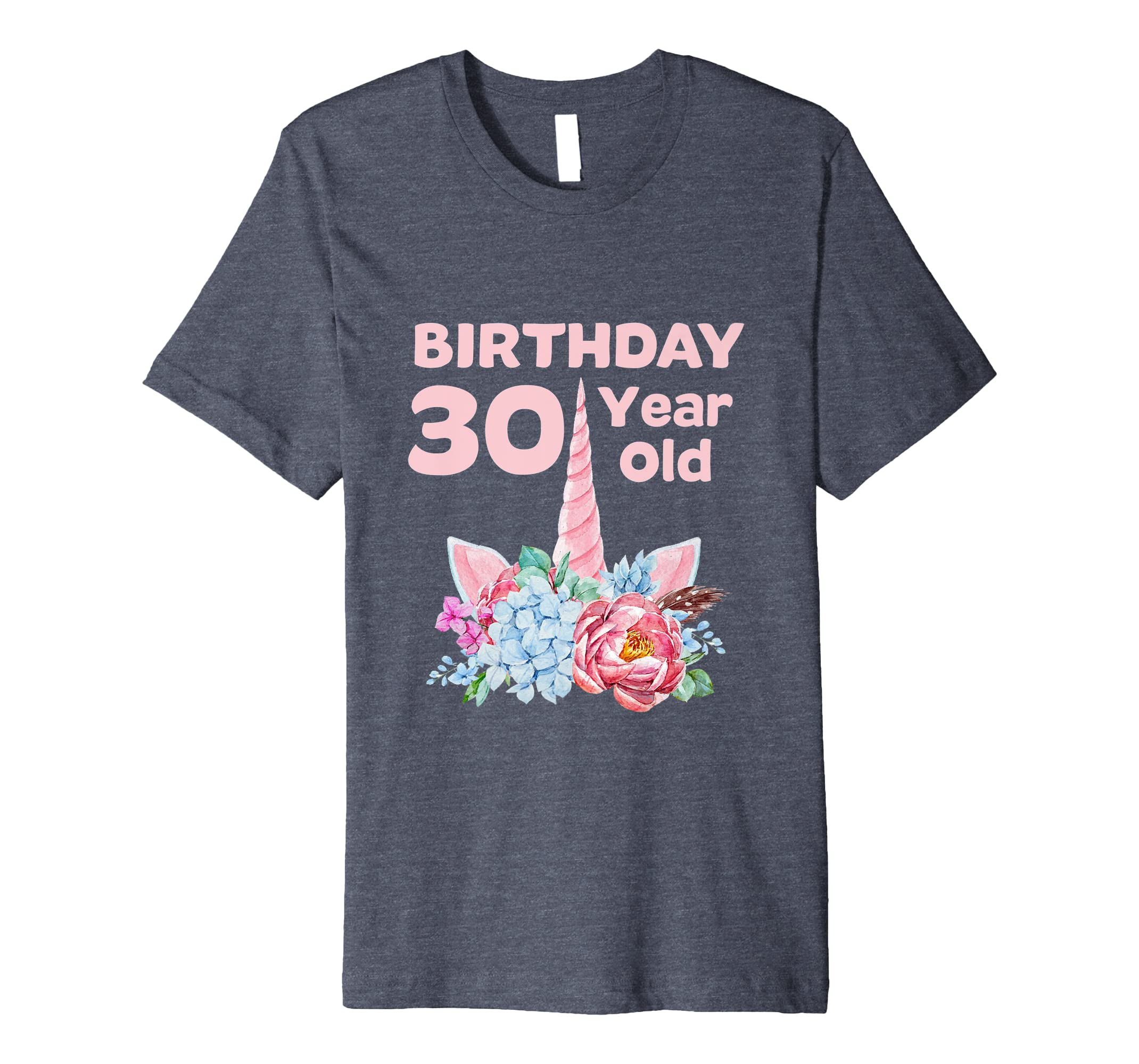 Amazon 30th Birthday Tshirt Unicorn Women Gifts 30 Year Old Sister Clothing