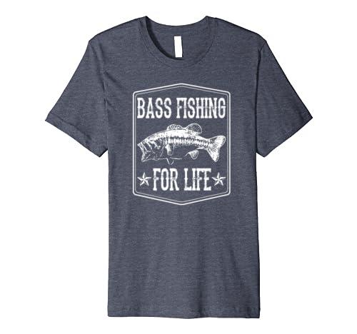 Bass Fishing For Life Funny Fishing Gear Gift Premium T-Shirt
