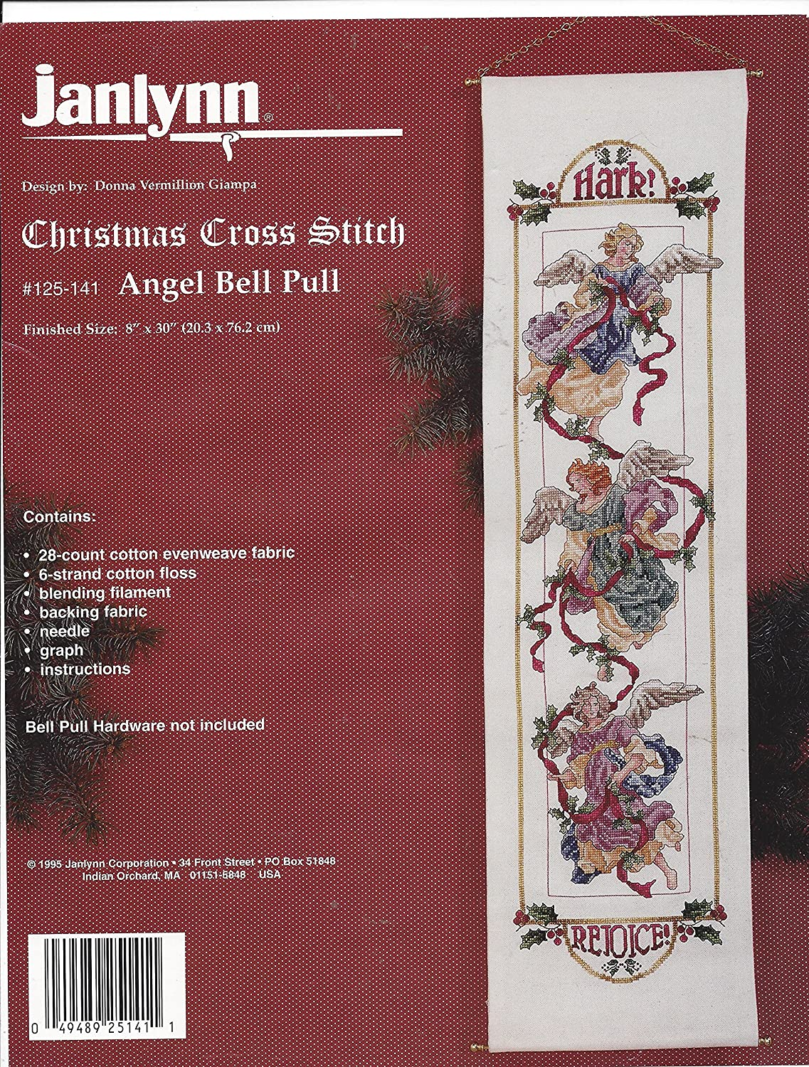 Angel Bell Pull Super-cheap Counted Cross Stitch Kit New Shipping Free Shipping