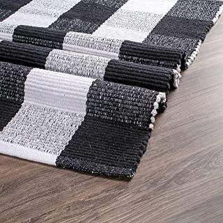 Buffalo Plaid Rugs for Living Room 24x36 inch-Black White, Kitchen Rugs,Entry Way Rugs, Door Rugs, Area Rugs,Farmhouse Bat...