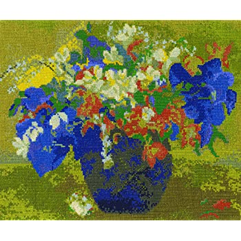 Multicolor 9 x 12 DMC BL1066//71 16 Count Van Goghs Chair Counted Cross Stitch Kit