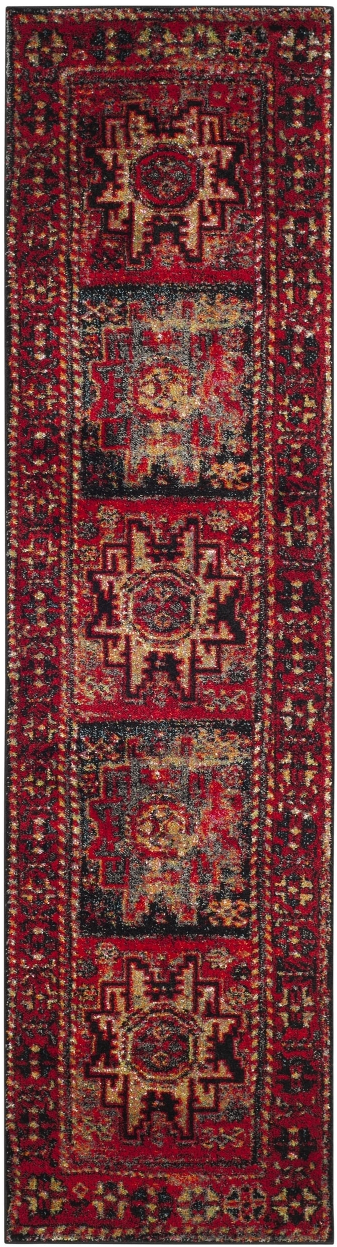 Safavieh Vintage Hamadan Traditional Red/ Multi Distressed Runner (2'2 x 6') - Free Shipping On Orders Over $45 - Overstock.com - 20791461