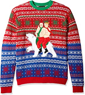 Men's Ugly Christmas Sweater Trump