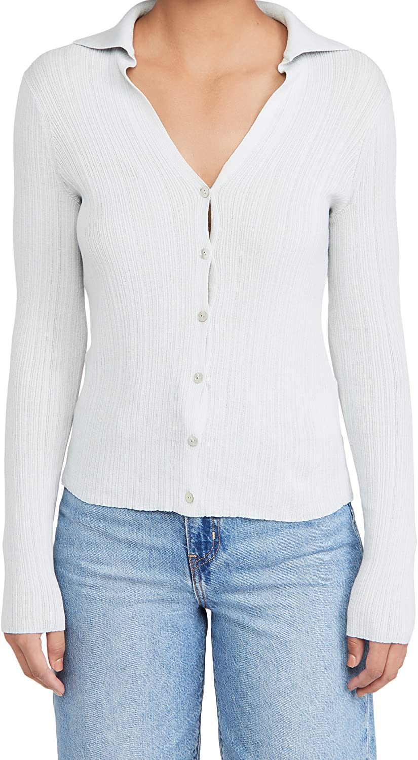 Vince Women's Ribbed Polo Cardigan