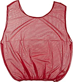 Sportime - 1328682 Mesh Scrimmage Vest - Adult Size - Red