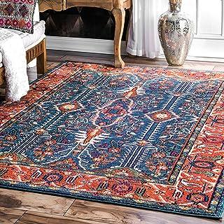 """nuLOOM Wonder Vibrant Persian Area Rug, 6` 7"""" x 9`, Multi"""