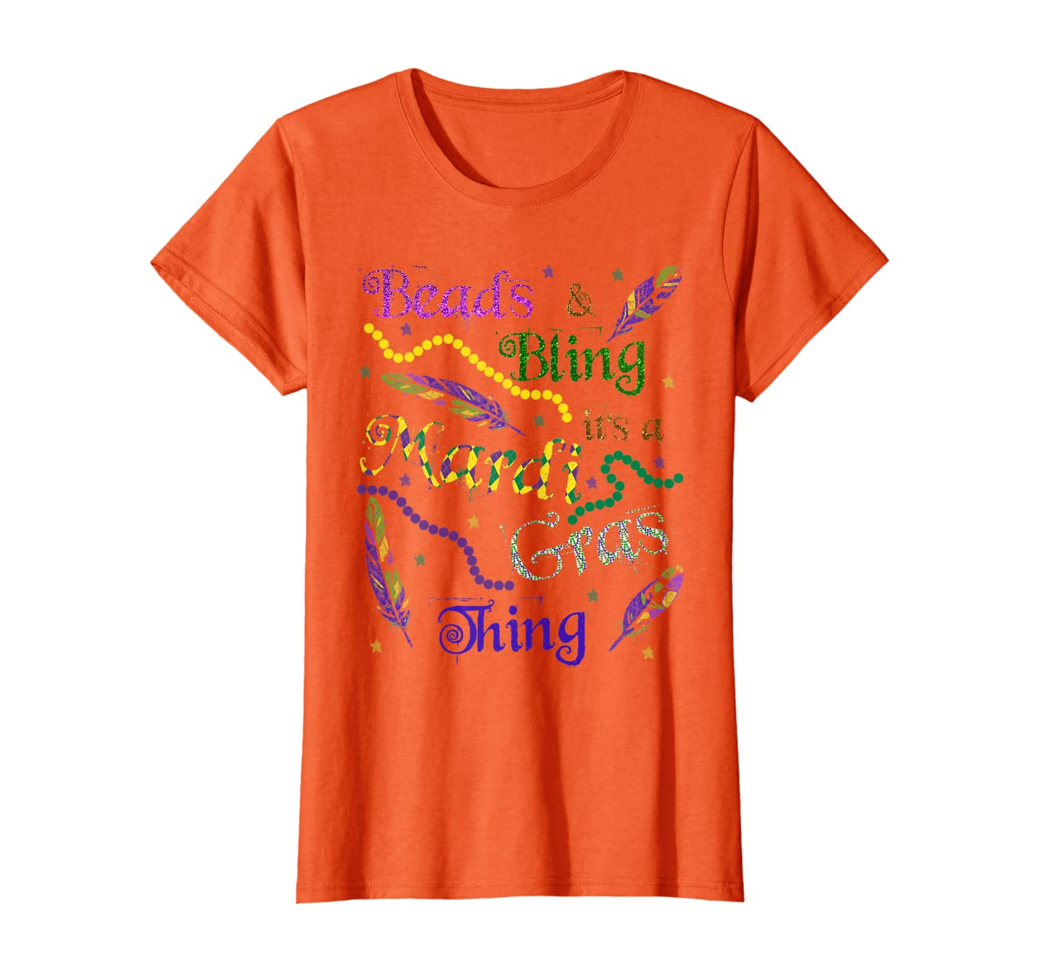 Beads & Bling it's a Mardi Gras Thing TShirt Parade Gift Tee