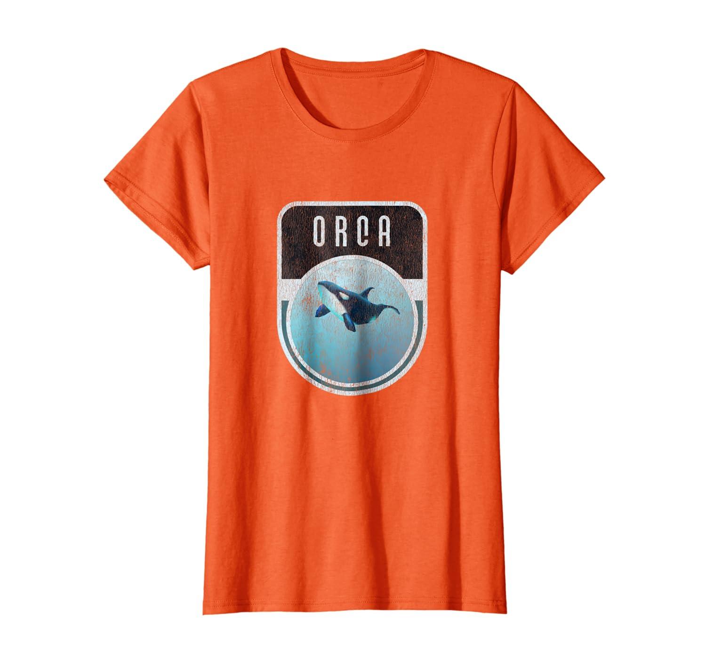 Distressed Vintage Killer Whale Orca T-Shirt
