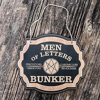 Men of Letters Bunker - Black Door Sign