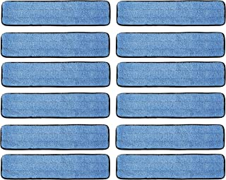 """12 Pack 18"""" Microfiber Wet Mop Refill Pads for Flat Microfiber Mop Frames"""