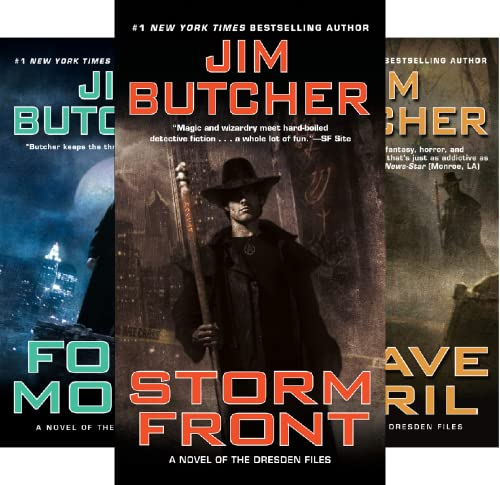 Jim Butcher Box Set (Dresden Files) (3 Book Series)