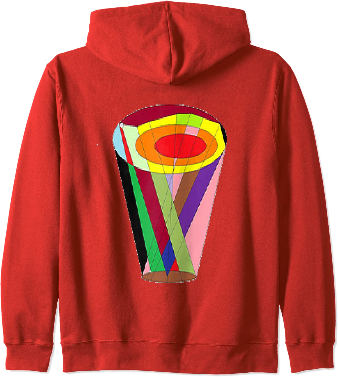 Colorful Vase ,rainbow into a colorful cup Zip Hoodie-TH