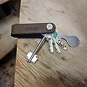Vite in acciaio inossidabile I Carbonio DONBOLSO/® One I Organizzatore per chiavi con liberacarrello I Astuccio in cuoio per 1-7 chiavi I Cuoio