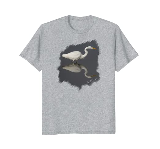 Egret Reflections Standard T-Shirt